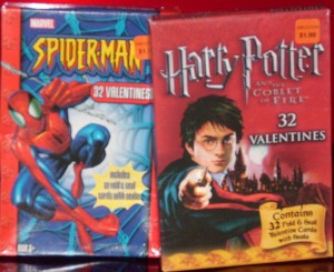 spiderman20and20harry20potter20valentines20cards