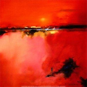 5642~Orange-Horizon-Posters